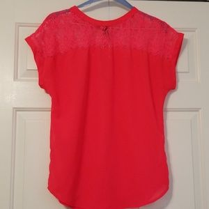 H&M size 8 neon coral top...NWOT